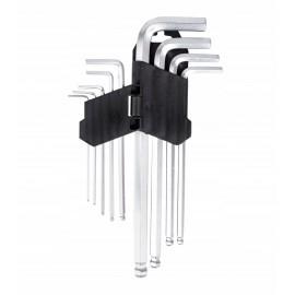 Klucze imbusowe Long z kulką 1,5-10mm - kpl.x9