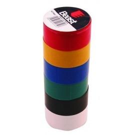 Taśma izolacyjna 19mmx2,5m, x6, color